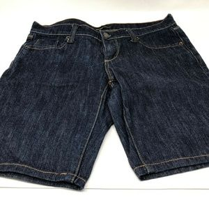 new york & company womens denim shorts sz 6